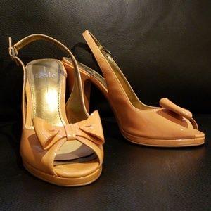 Tangerine Patent Leather Linea Paola Heels